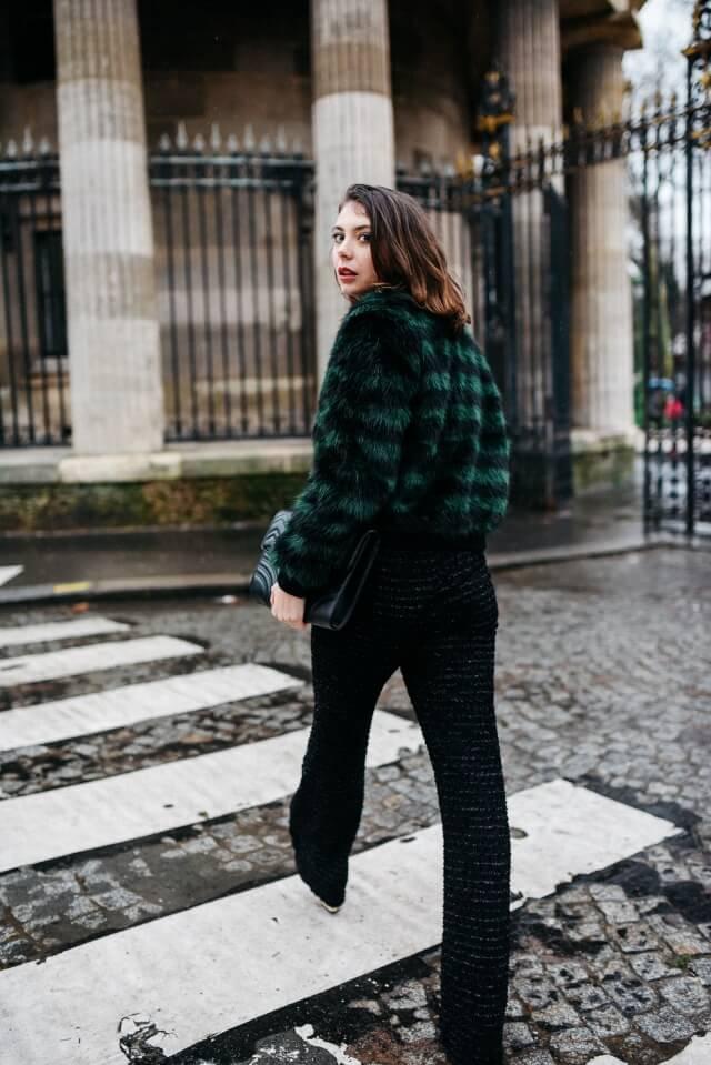 abrigo de pelo faux fur coat verde