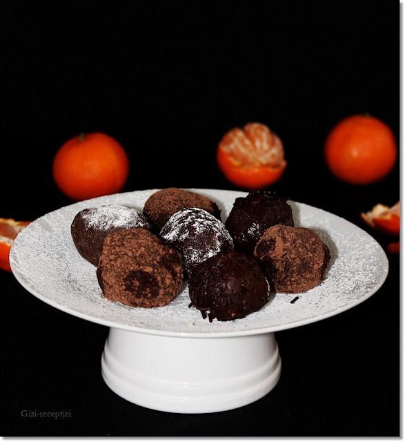Mandarinos csokoládé trüffel.