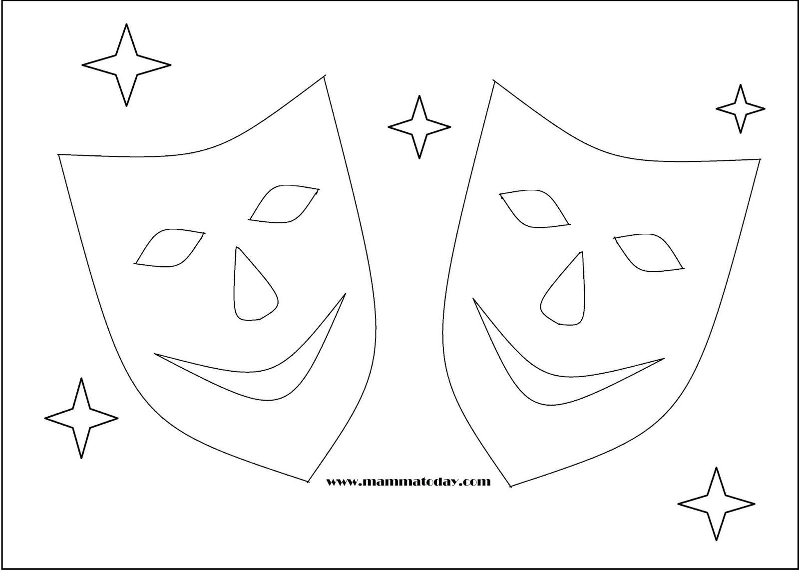 Maschere Di Carnevale Da Stampare Ritagliare E Colorare Mamma