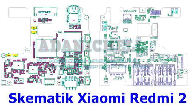 Skematik Xiaomi Redmi 2 Asli dan Terlengkap