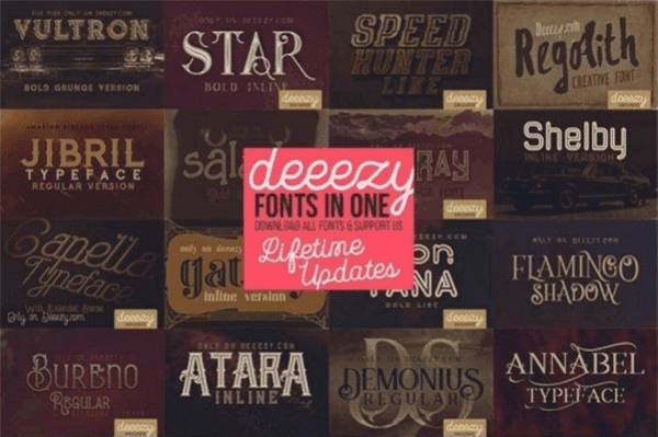 Deeezy ALL Fonts in ONE Pack
