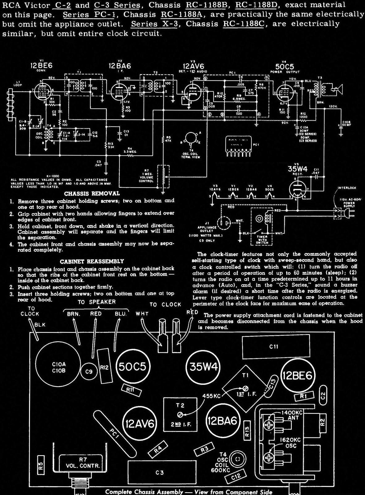RCA Victor C-2 and C- 3 series – Valve radios circuit ... on