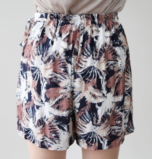 Palm Tree Print Wrap Skort
