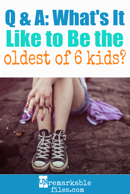Everybody has an opinion on whether having a big family is good or bad for the children, but what do the kids think? I decided to ask my oldest daughter what it's like to be in a family with 5 brothers and sisters: the good, the bad, and the ugly. Here's what she said about life with a lot of siblings. #family #siblings #bigfamily #largefamilies #kids #unremarkablefiles