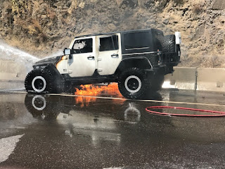 Fire US95 near milepost 305 – Photos ***