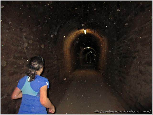 foto en el túnel