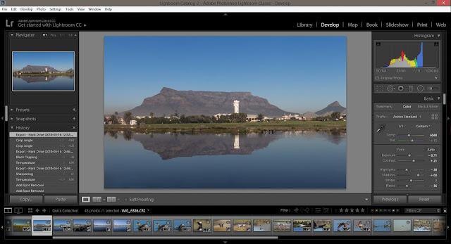 Adobe Lightroom Training Cape Town - Development Module View : Lightroom Classic CC 7.3