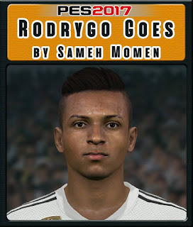 PES 2017 Faces Rodrygo Goes by Sameh Momen