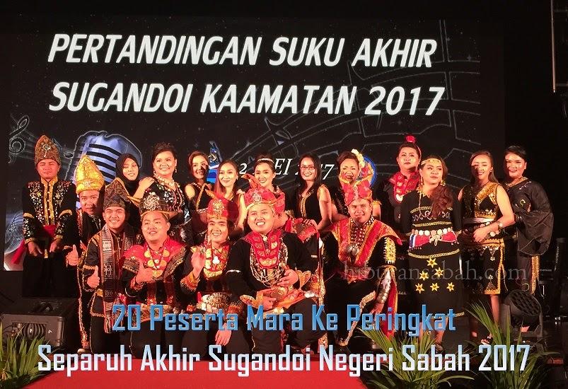 20 Peserta Berentap Dalam Peringkat Separuh Akhir Sugandoi Negeri Sabah 2017