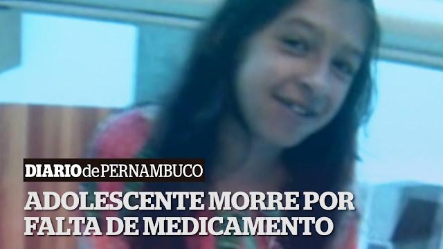 Adolescente de 15 anos morre após falta de medicamentos na Farmácia do Estado