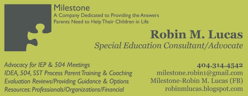 The Role Of Special Education Advocate >> Robin M Lucas Special Education Advocate Consultant