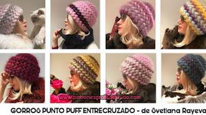 Gorro a crochet en punto puff con tutoriales en español