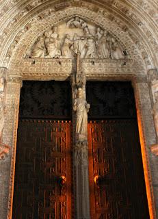 Tímpano portada de la catedral de Toledo