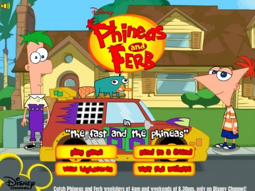 Chơi Game Y8 Phineas and Ferb đua xe