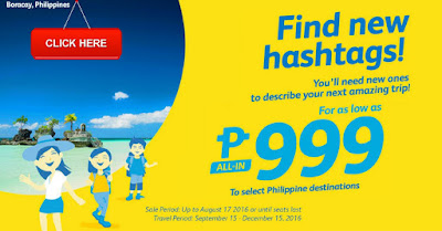 Cebu Pacific Promo September November 2016