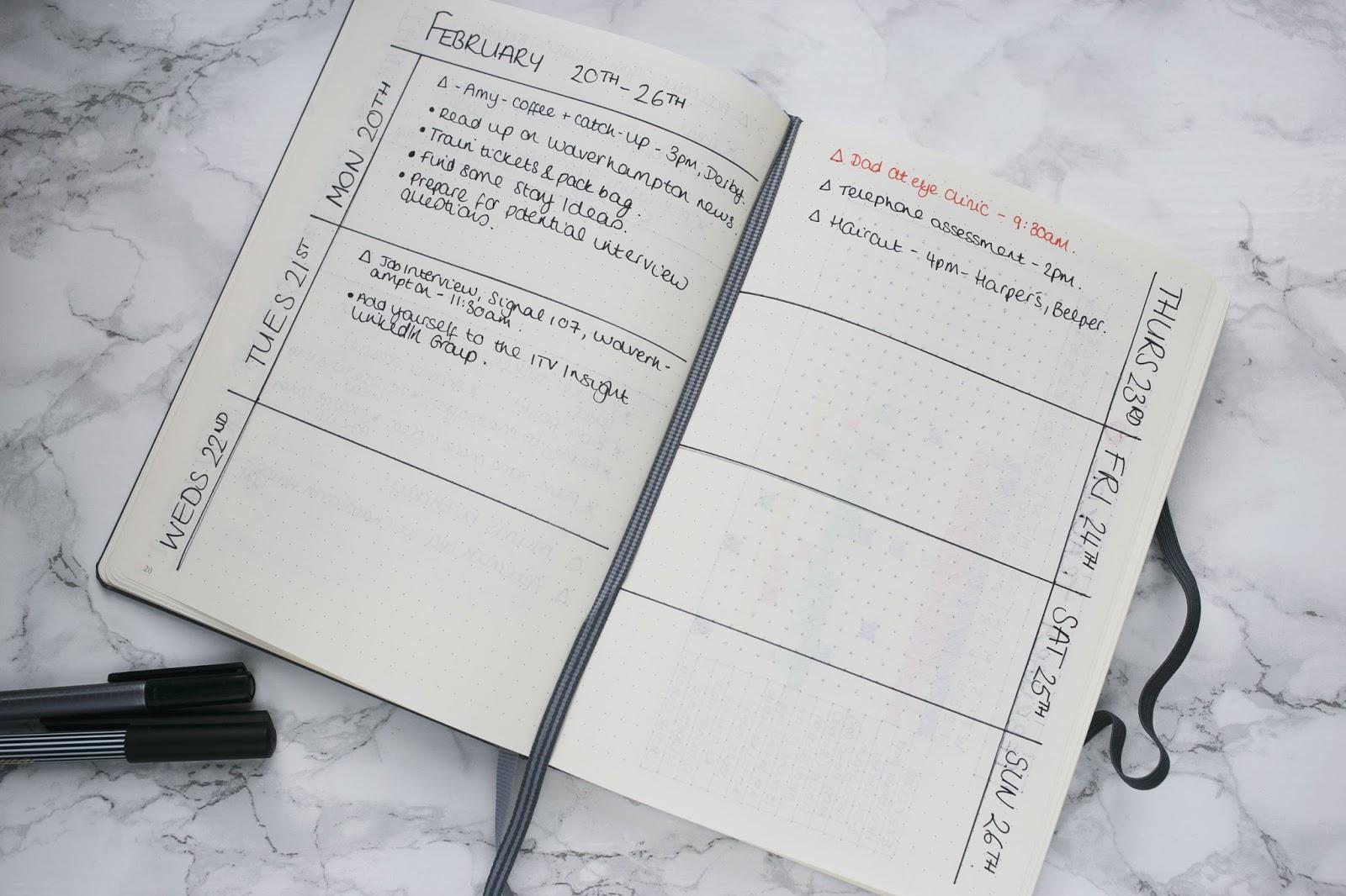 Bullet Journal, Lifestyle Blogs, Katie Brown, Katie Writes,