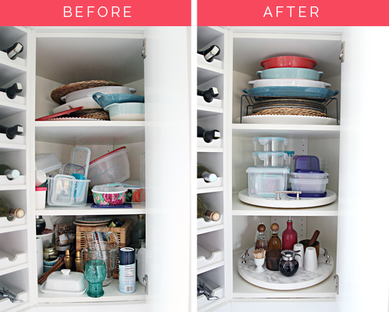 IHeart Organizing: Organized Kitchen Corner Cabinet With A