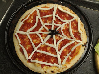 pizza ragnatela halloween