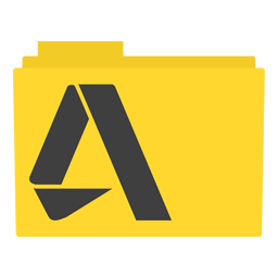 Preview of Autodesk, software, yellow, black, software, icon