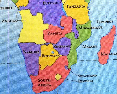 Zambia Where Is It Then The Bottom Half Of Africa Chop The - Where is zambia