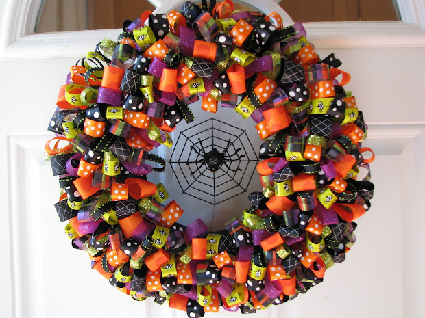 Crafty Mama Spook-tacular Halloween Ribbon Wreaths