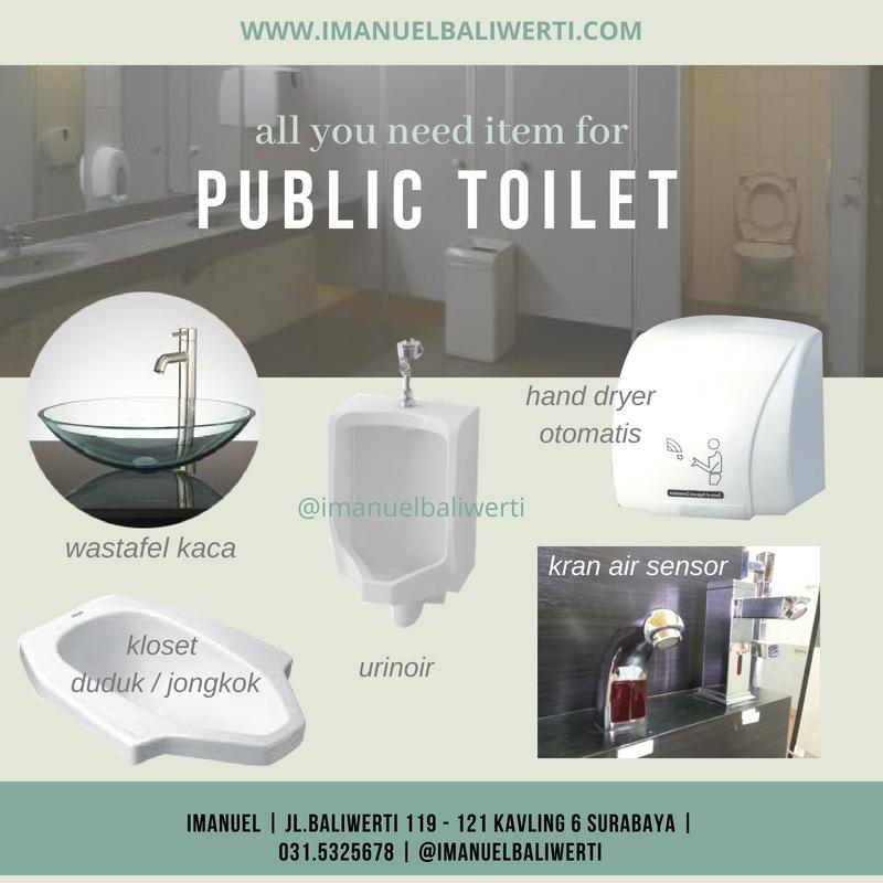jual toilet urinal kamar mandi IMANUEL baliwerti surabaya