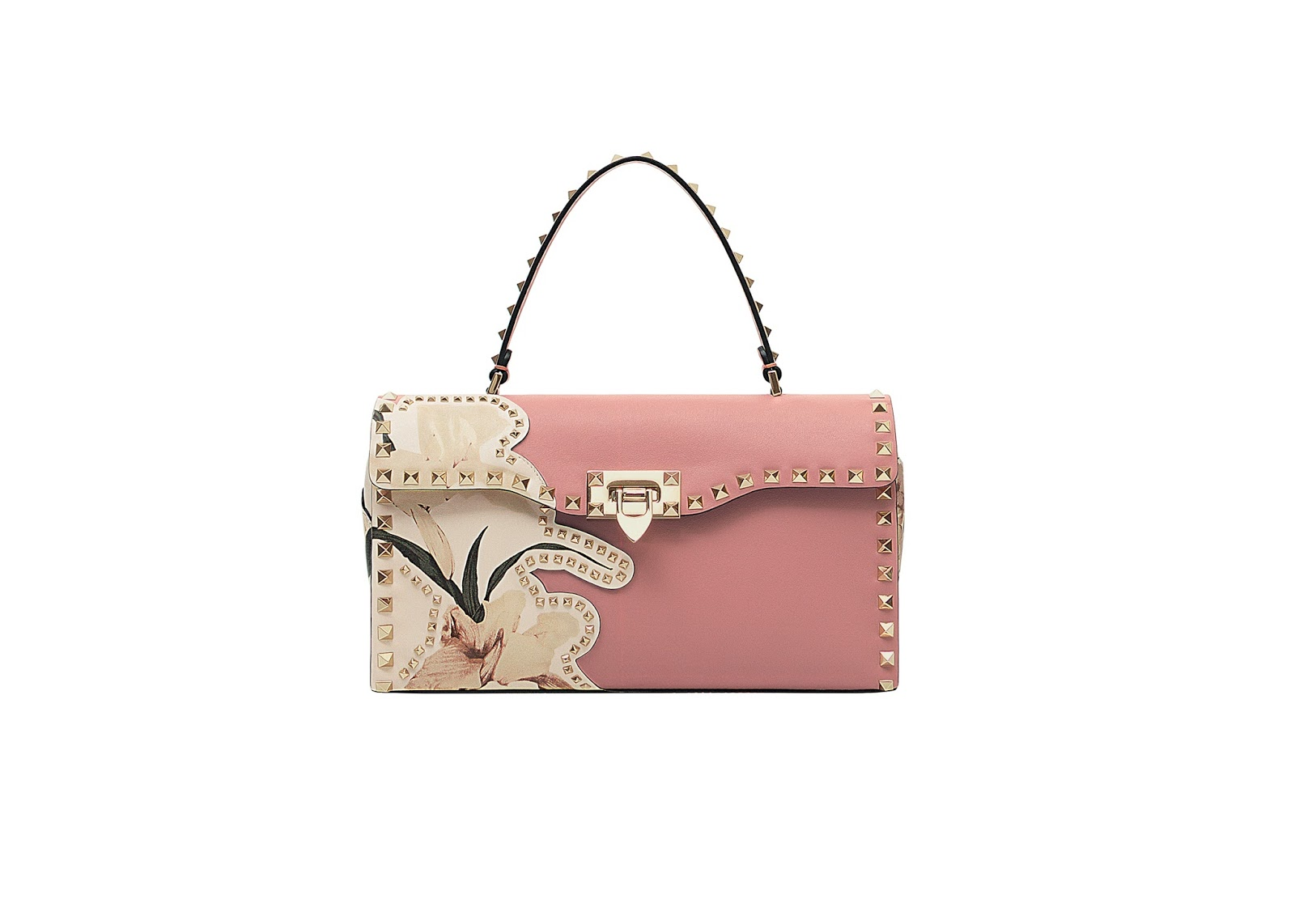 Valentino's Cutout Flower Rockstud Bags