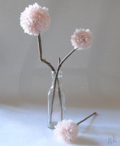 blumen aus pompons, gk kreativ: pompon blumen, Design ideen