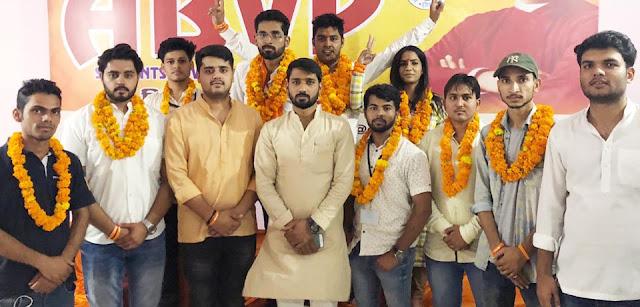Akhil Bharatiya Vidyarthi Parishad waved at Gurgram's colleges
