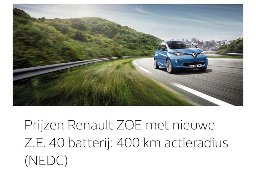 revised renault zoe leaks with 400 km range. Black Bedroom Furniture Sets. Home Design Ideas