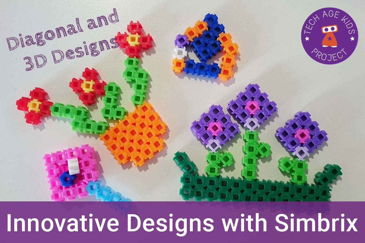 Diagonal and 3D Designs with Simbrix | Tech Age Kids | Technology