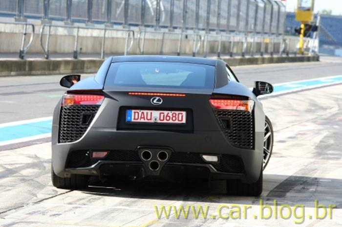 Lexus LFA - preto fosco - black - rear