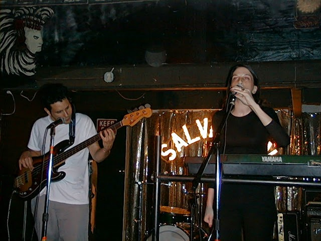 Big Sir: Juan Alderete (L) and Lisa Papineau (R). Benefit for Manny Nieto, May 20, 1999.