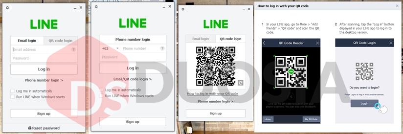 cara mudah login line pc