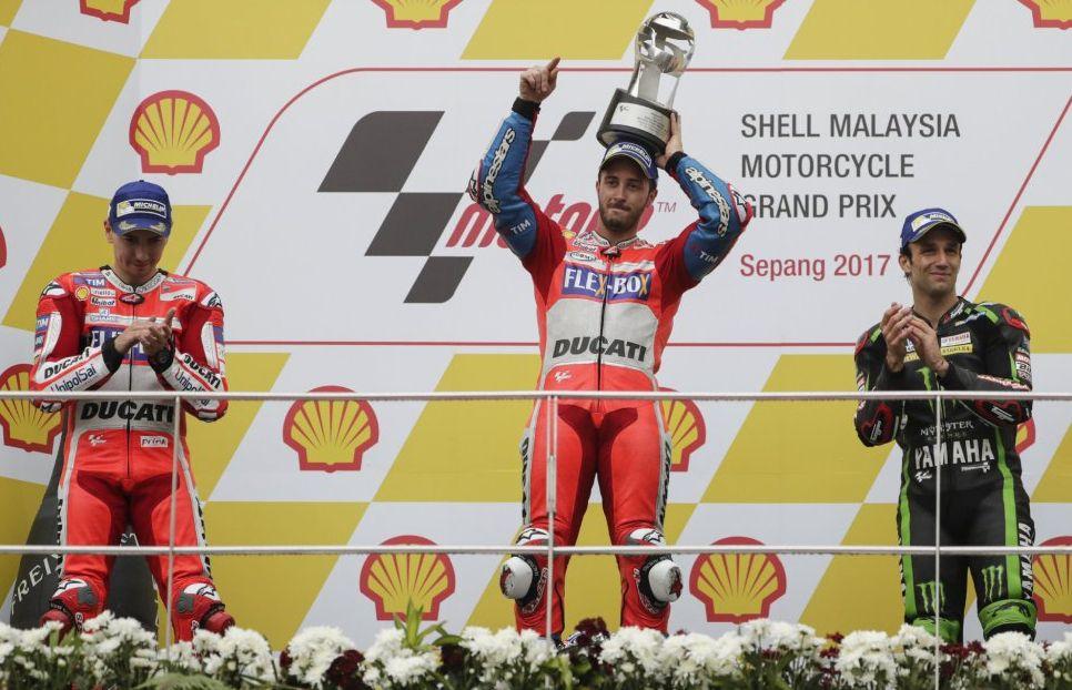 MotoGP Malesia: Grandissima Vittoria di Dovizioso su Ducati, campionato ancora aperto