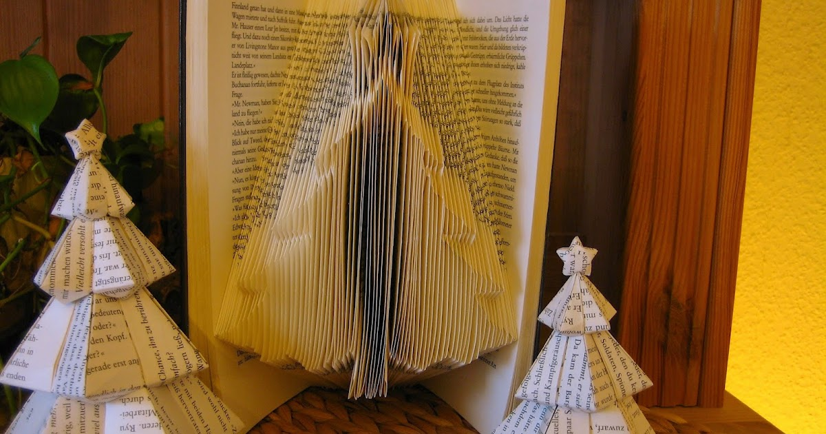 Tannenbaum Buch.Origami Die Kunst Des Papierfaltens Book Art Christmas Tree