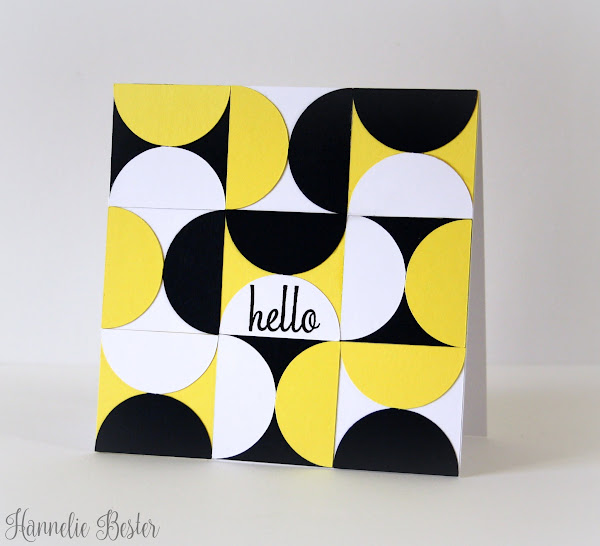 retro circles and squares card