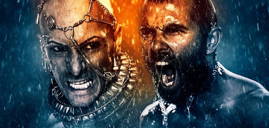 Cei doi protagonişti principali ai filmului 300: Rise Of An Empire - Xerxes şi Temistocle