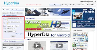 Situs Hyperdia untuk Jadwal Kereta Jepang