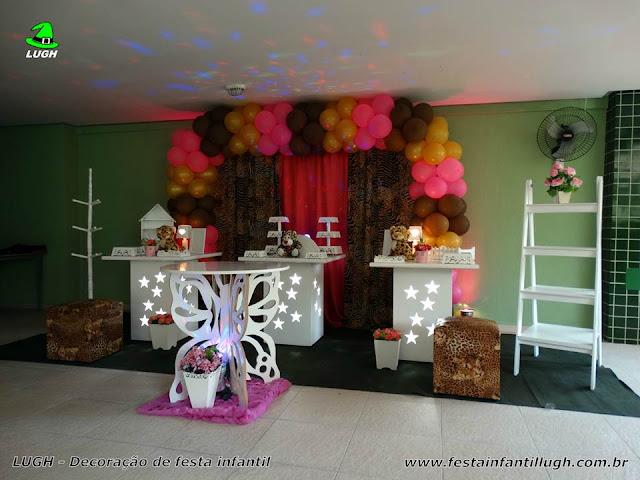 Decoração festa da Oncinha - Mesa decorada infantil para festa de aniversário feminino