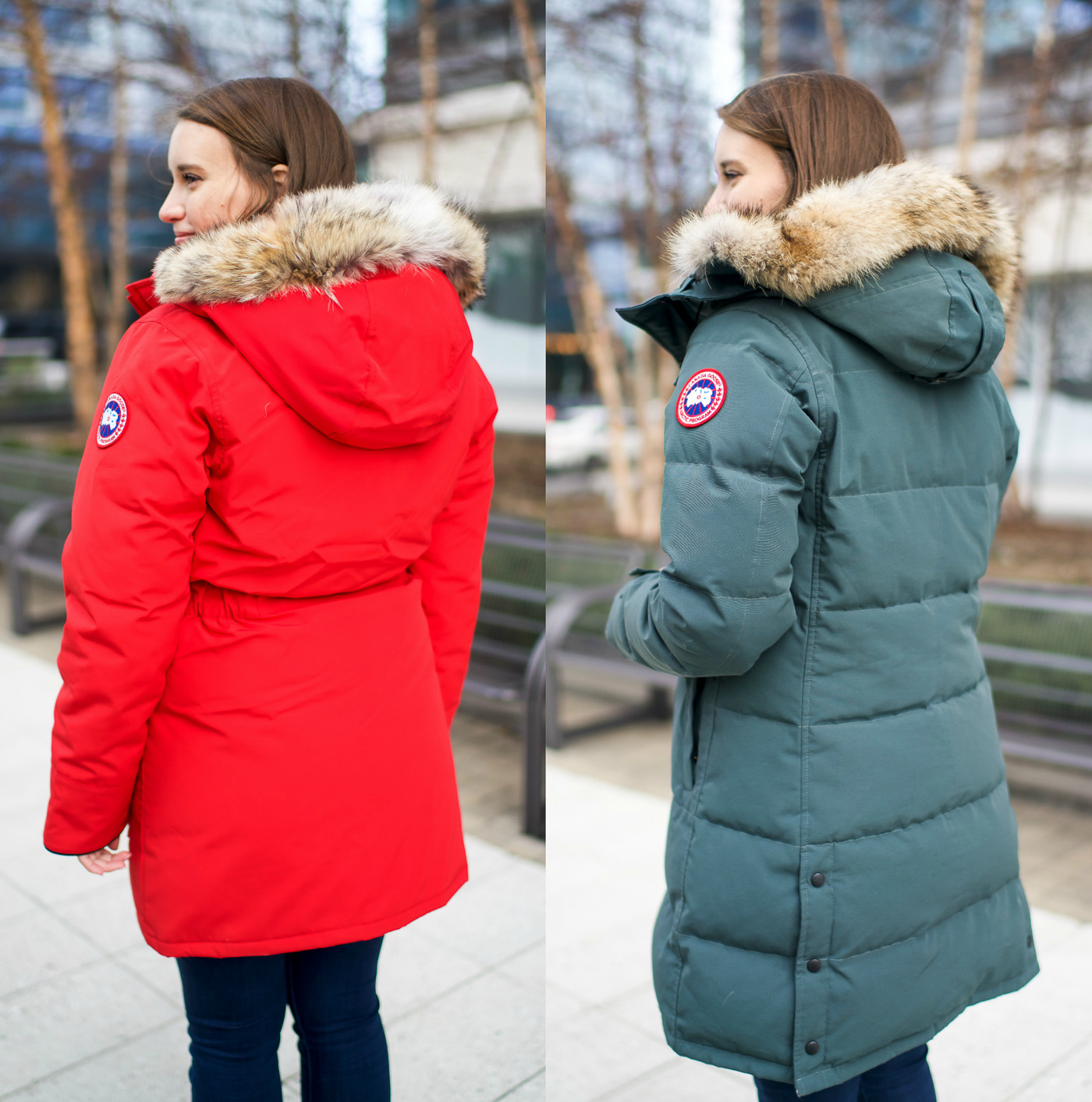 is the canada goose logo always on the left