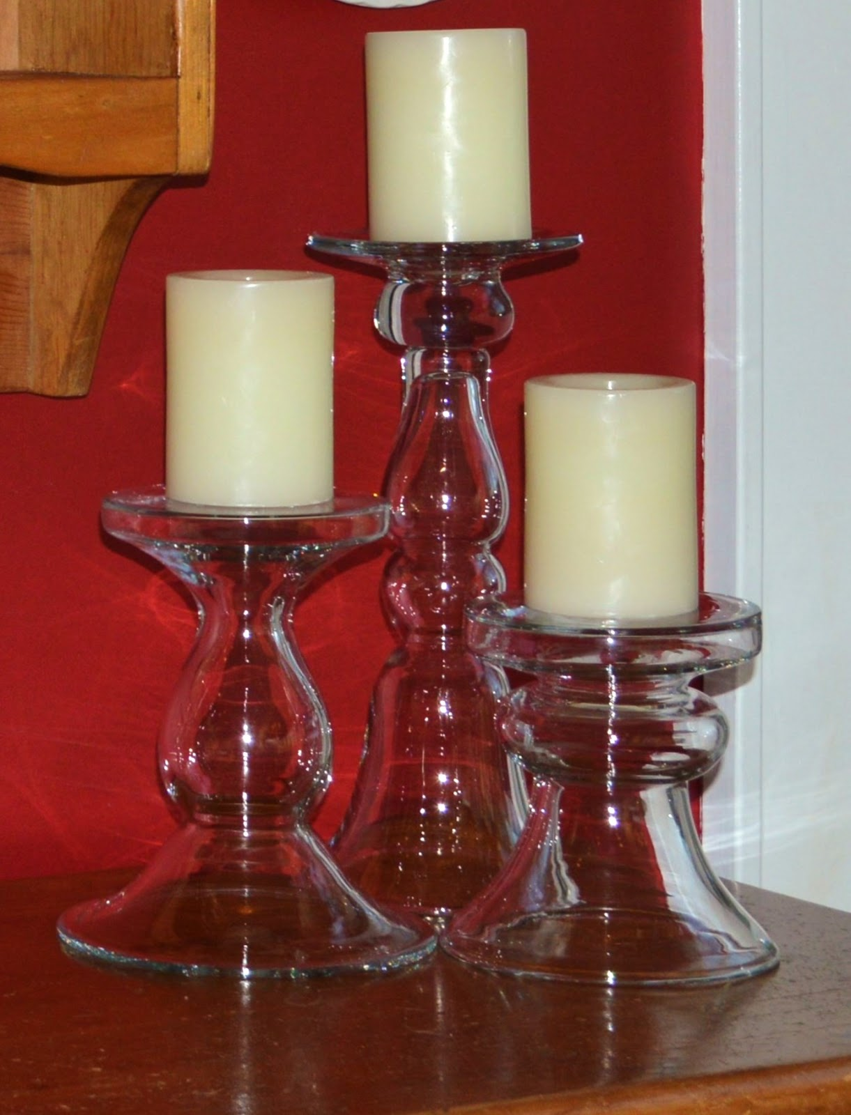 Pottery Barn Glass Candle Stands