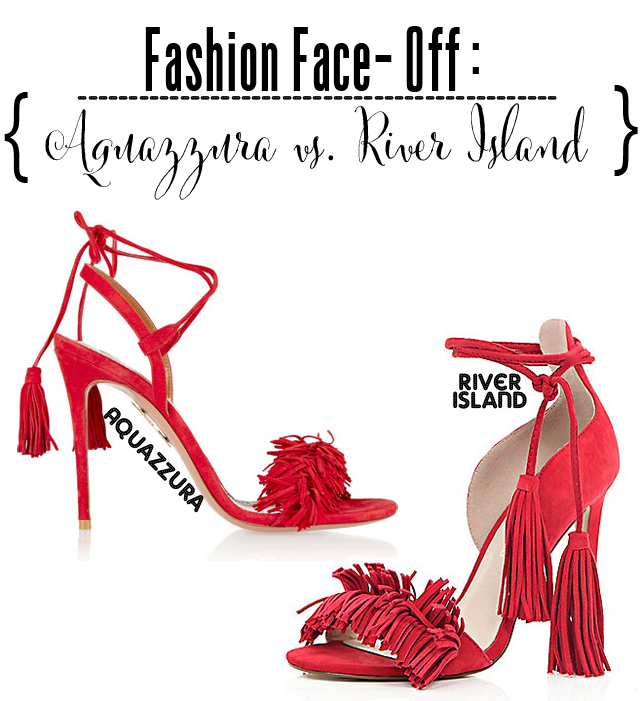 Red Fringed Heels