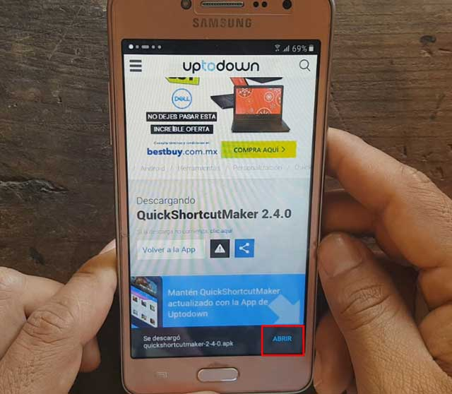 ejecutar app quickshortcutmaker