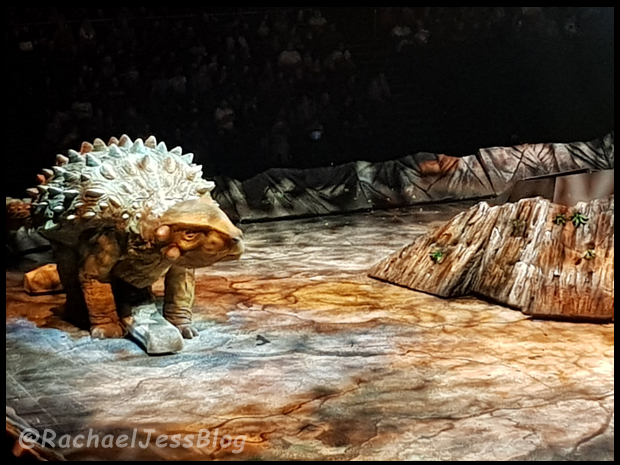 Ankylosaurus about to take on a baby T-Rex