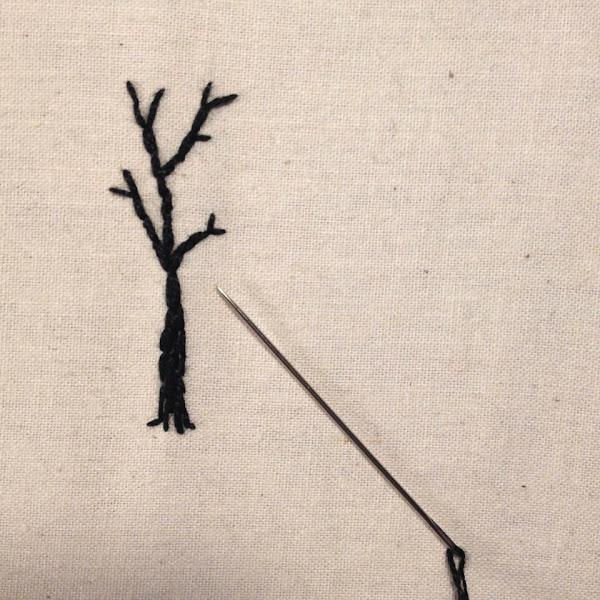 Teeny Tiny Embroidered Tree