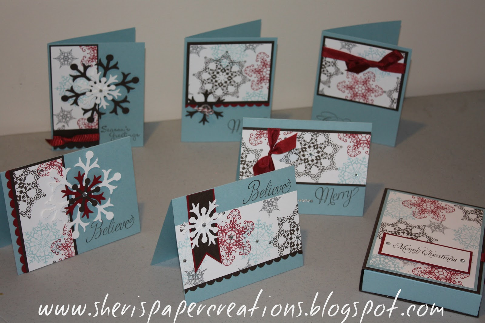 Sheri's Paper Creations: One Sheet Wonder Christmas Cards - photo#38