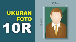 Ukuran Foto 10R (mm, cm, inci) Lengkap
