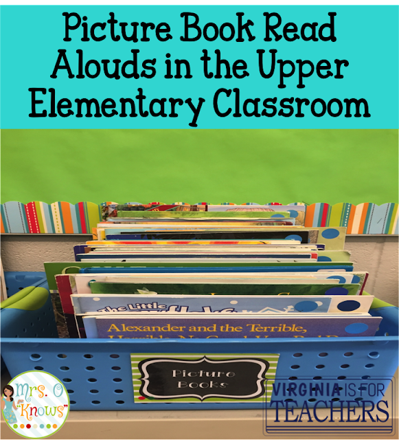 Do your upper elementary students feel comfortable checking out picture books? Chances are good that they don't, but they should. Check out this post to learn how you can demonstrate why.