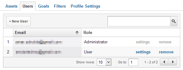 how to add new users to google analytic profile